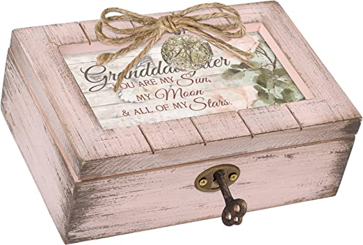 ukebobo Wooden Music Box- You are My Sunshine Music Box 1 Set from Grandson to Grandma Unique Music Box for Grandmother