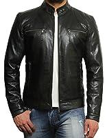 Infinity Brandslock Men's Lambskin Genuine Leather Biker Jacket