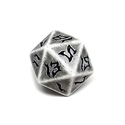 Giant Dice of The Glaciers D20 - Huge 48mm Dice: Toys & Games