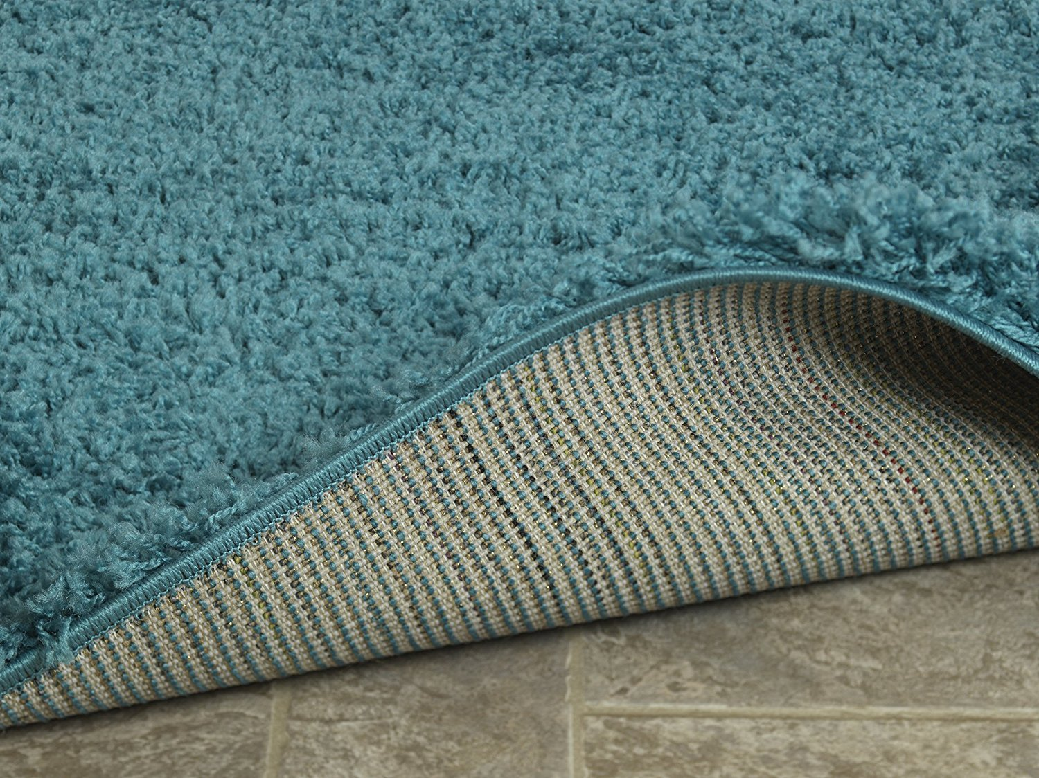 Ottomanson Soft Cozy Color Solid Shag Runner Rug Contemporary ...