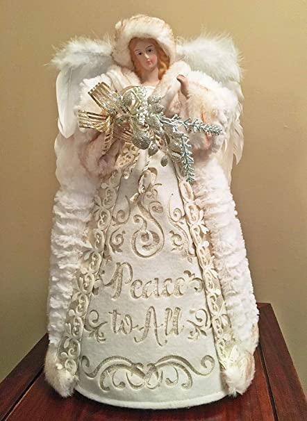 Peace Christmas Tree Topper.Amazon Com Christmas Tree Toppers Peace On Earth Angel