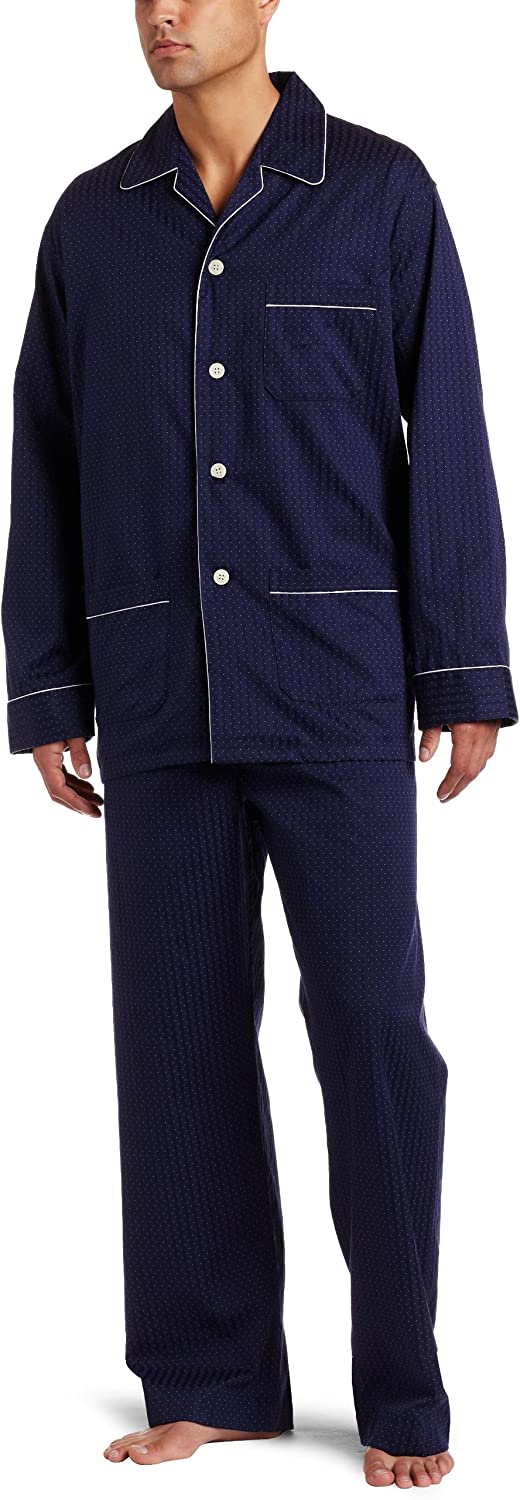 Derek Rose Men's Royal Piped Pajama Set