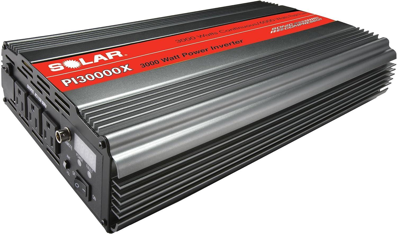B002Z2Z8PI Clore Automotive SOLAR PI30000X 3000W Power Inverter with Triple Outlet plus Junction Block - Gray 81IZ8hKuZAL