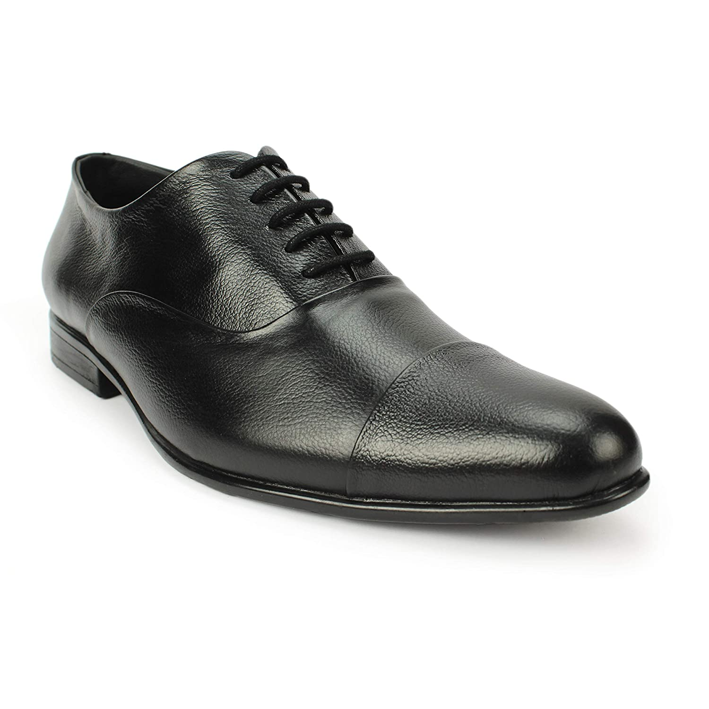black genuine leather shoes mens