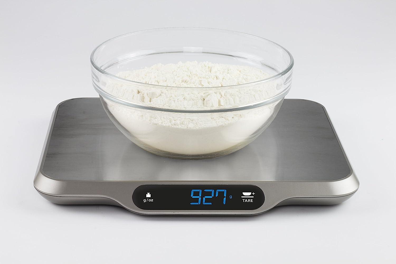 CASO L15 Design Küchenwaage, digitale Küchenwaage mit extra großer ...