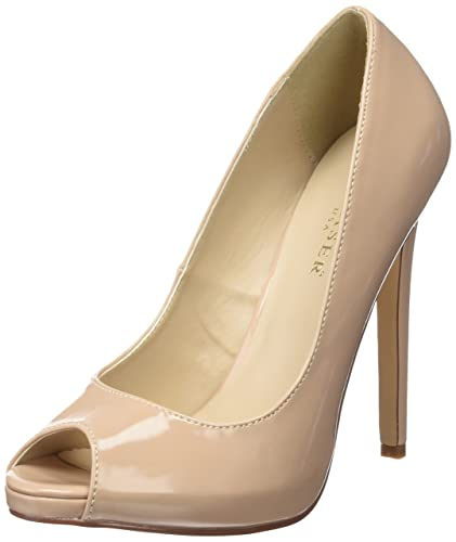 847e68256b12 Pleaser Women s Sexy-42 Slide Pump Beige  Amazon.co.uk  Shoes   Bags
