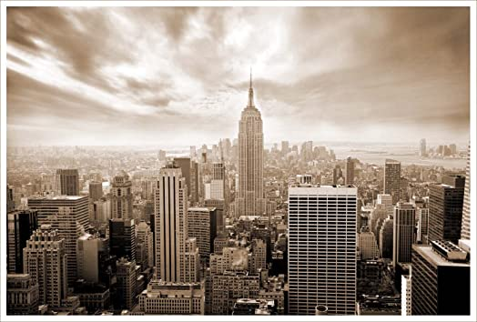 New york skyline in sepia print on satin photo paper 18 inches x 12 new york skyline in sepia print on satin photo paper 18 inches x 12 inches solutioingenieria Images