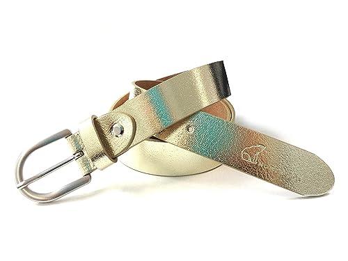 cintura donna oro in vera pelle made in Italy NORTH POLE NPD01_30, confezione regalo in metallo inclusa