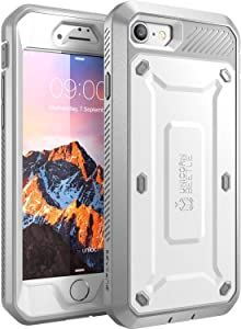 SupCase Unicorn Beetle Pro Series Case Designed for iPhone 7, iPhone 8, Full-body Rugged Holster Case with Built-in Screen Protector for Apple iPhone 7 2016 / iPhone 8 2017 (White)