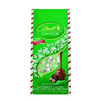 Deals on Lindt LINDOR Holiday Milk Peppermint Cookie Gift Bag 19oz