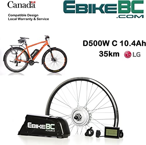 Ebike KIT 500 800W Electric Bicycle E Bike Complete Conversion Kit Front Hub Motor, Battery Li-Ion 40km h LCD 26 27.5 28 29 700C Rim Sizes Bike not Included