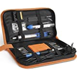 INTEY Soldering Iron Kit with Adjustable Temperature Welding Iron 13pcs Full Set 60W 220V