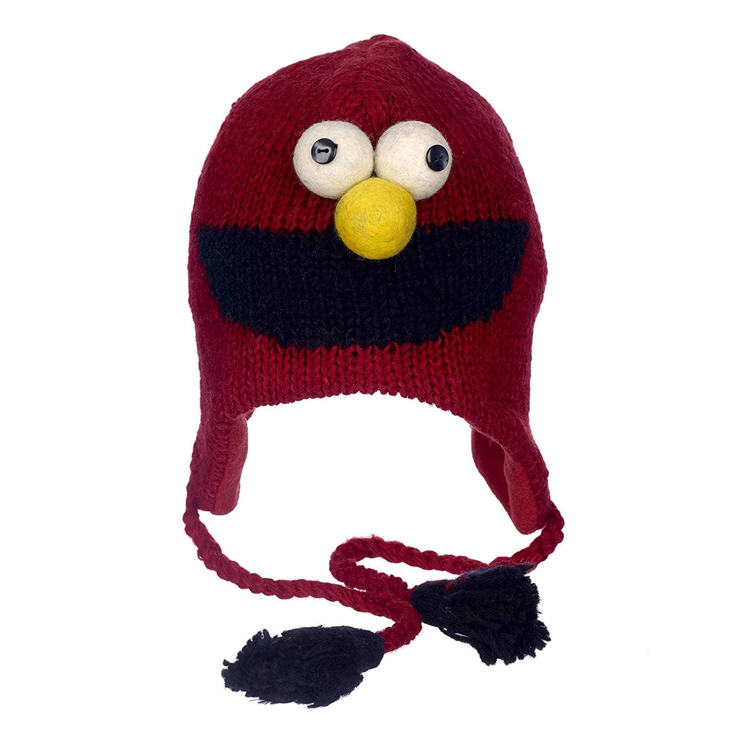 Paper High Big Boys' Fun Elmo Sesame Street Woollen Hat With Fleece Lining