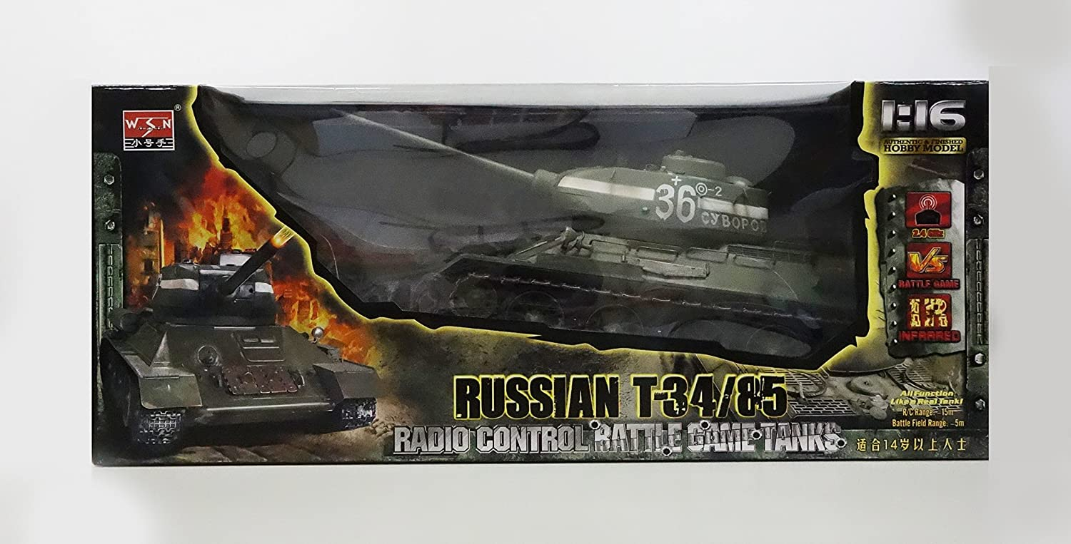 2  4 GHz 1 /1 6  RC battle tank T3 4 /8 5  (With infrared