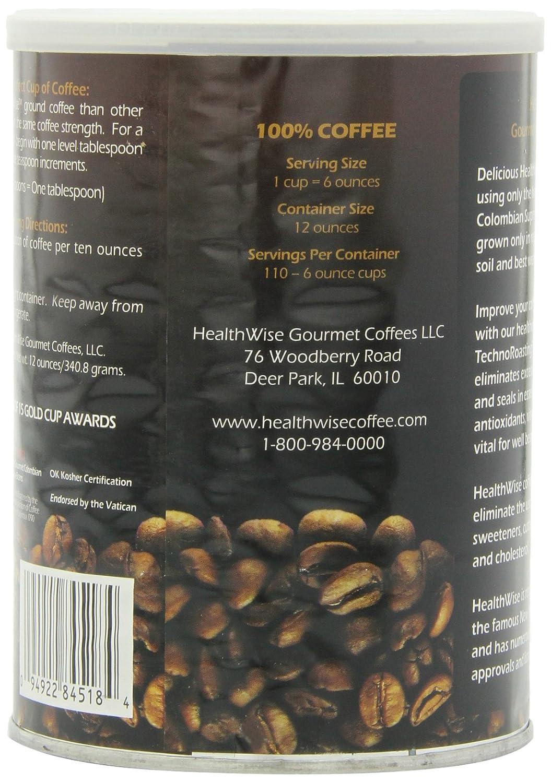 healthwise 100% Colombiano Supremo, Low ácido de café molido ...