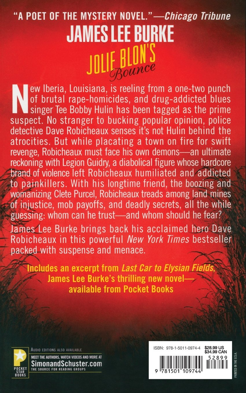 Amazon: Jolie Blon's Bounce: A Novel (dave Robicheaux) (9781501109744):  James Lee Burke: Books