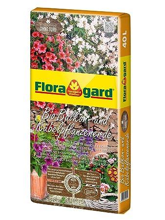 Floragard Bio Balkon  Und Kübelpflanzenerde Ohne Torf 40 L U2022 Spezialerde  Mit Kompost U2022 Zum