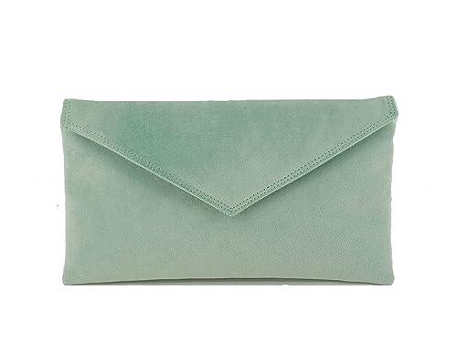 hot product new arrive so cheap Loni Womens Neat Envelope Faux Suede Clutch Bag/Shoulder Bag