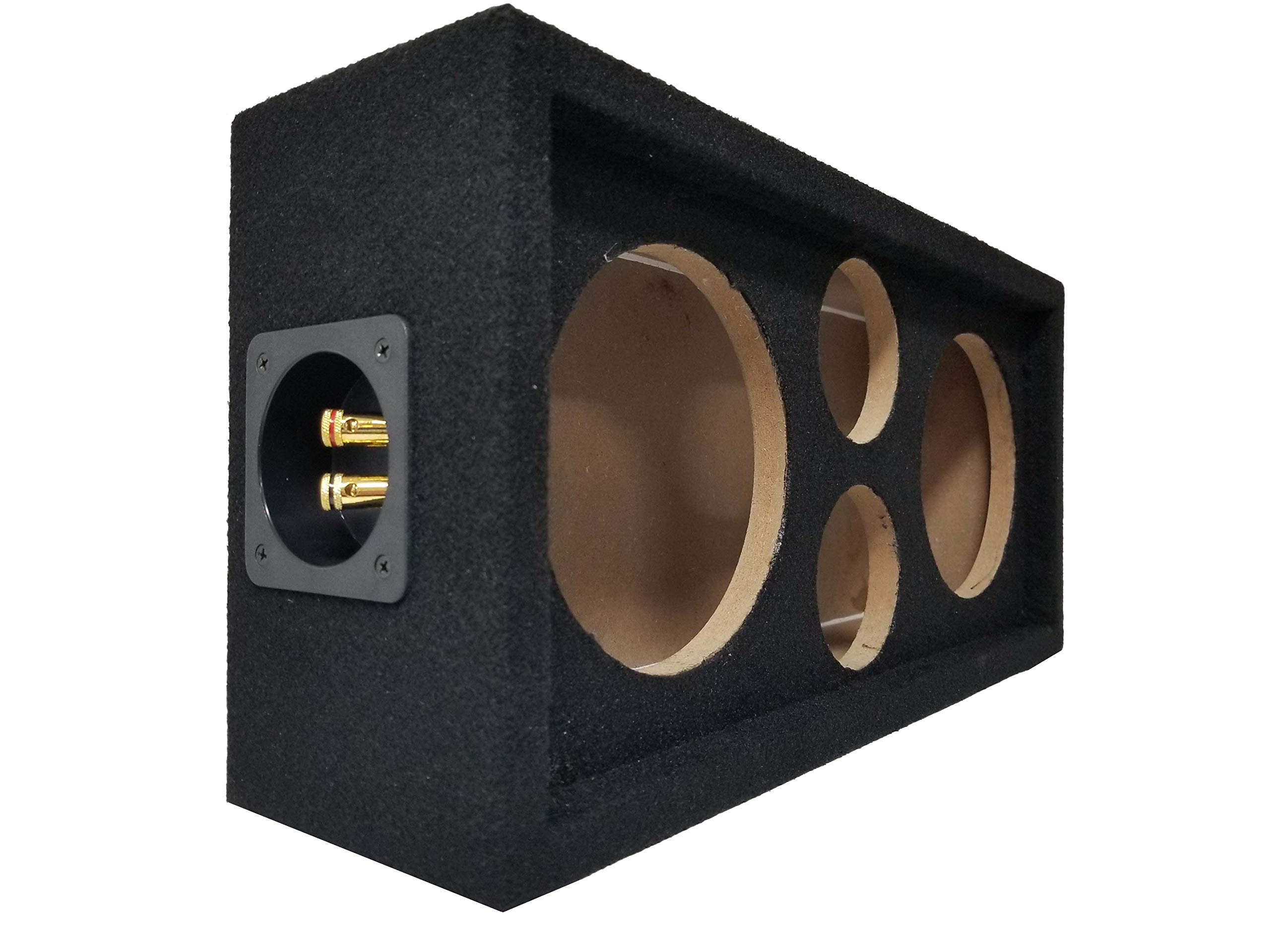 "Speaker Pod Enclosure Box Carpeted MDF fits 6"" Midrange/Speakers and 1"" Tweeters"