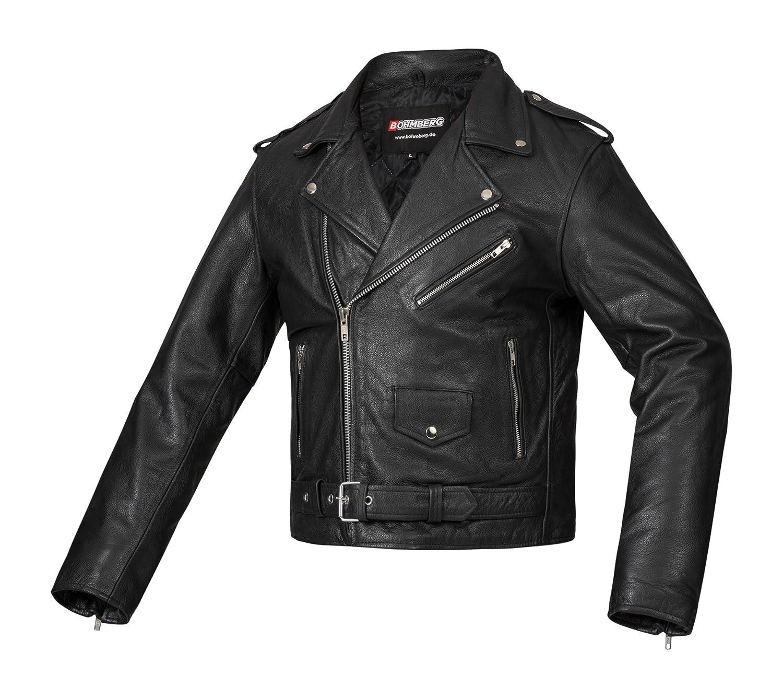 Bohmberg Premium S Chaqueta pesada de motociclista 100/% cuero duradero para hombre