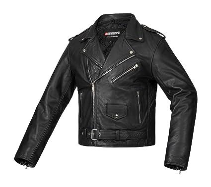 Bohmberg Premium- Chaqueta pesada de motociclista 100% cuero duradero para hombre - XXL