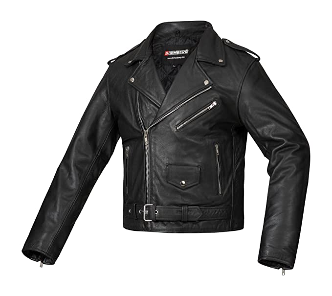Bohmberg Berlin Heavy Weight Biker Leather Jacket - Highway ...