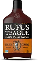Rufus Teague World Famous Touch O' Heat BBQ Sauce -16oz. Delicious on Chicken, Ribs, Steak, Pork Chops and Seafood. Proudly Crafted in Kansas City, USA!