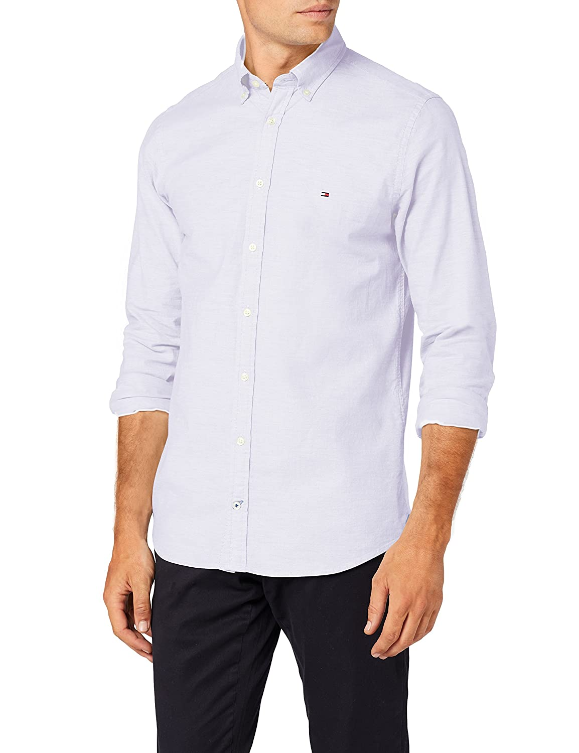 Tommy Hilfiger Core Stretch Slim Oxford Shirt Camisa para Hombre