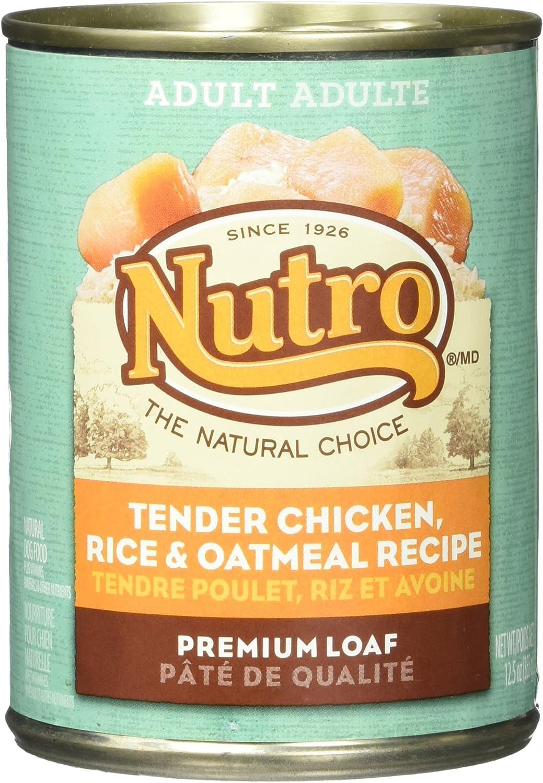 Nutro 50411561 Tender Chicken, Rice & Oatmeal Recipe Can Dog Food, 12 Ea/12.5Oz