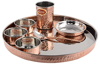 La Coppera Stainless Steel Dinnerware Sets 1.2 Liters 7 Piece Silver  sc 1 st  Amazon.in : stainless steel dinnerware set - pezcame.com