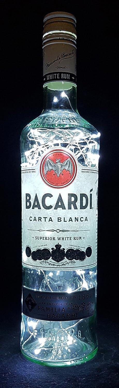 Bacardi Rum - Lámpara para botella (80 ledes, luz blanca fría ...