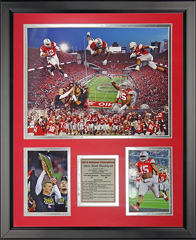 Ohio Stadium 11 x 14 Framed Photo Collage by Legends Never Die Ohio State Buckeyes Inc.