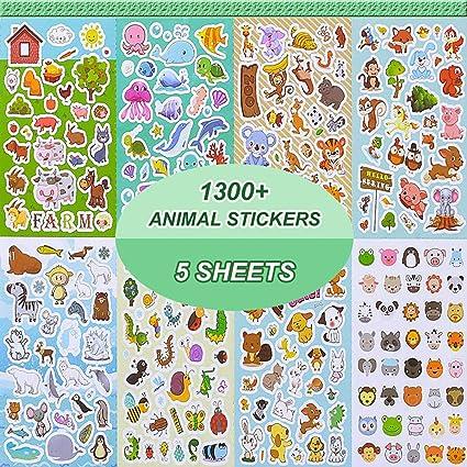 Amazon Com Animal Stickers Stickers For Kids Assortment Set 1300