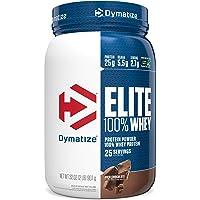Dymatize Elite 100% Whey Protein Powder, 25g Protein, 5.5g BCAAs & 2.7g L-Leucine, Quick Absorbing & Fast Digesting for…