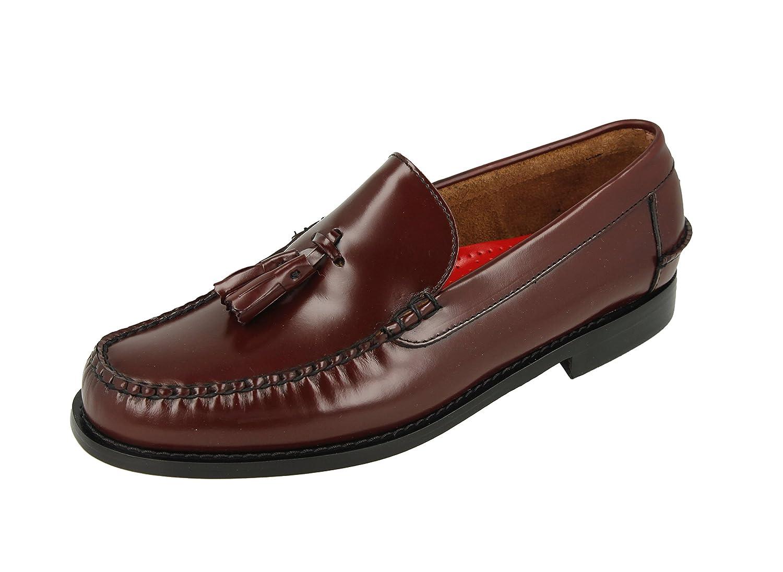 Castellanos Hombre Burdeos con BORLAS Burdeos KERRIMAN (44): Amazon.es: Zapatos y complementos