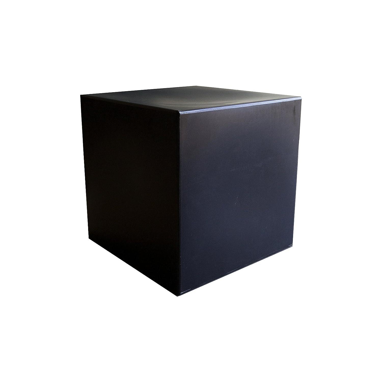 ARKEN Cubo in plastica nero pouff base tavolino seduta sedia sgabello