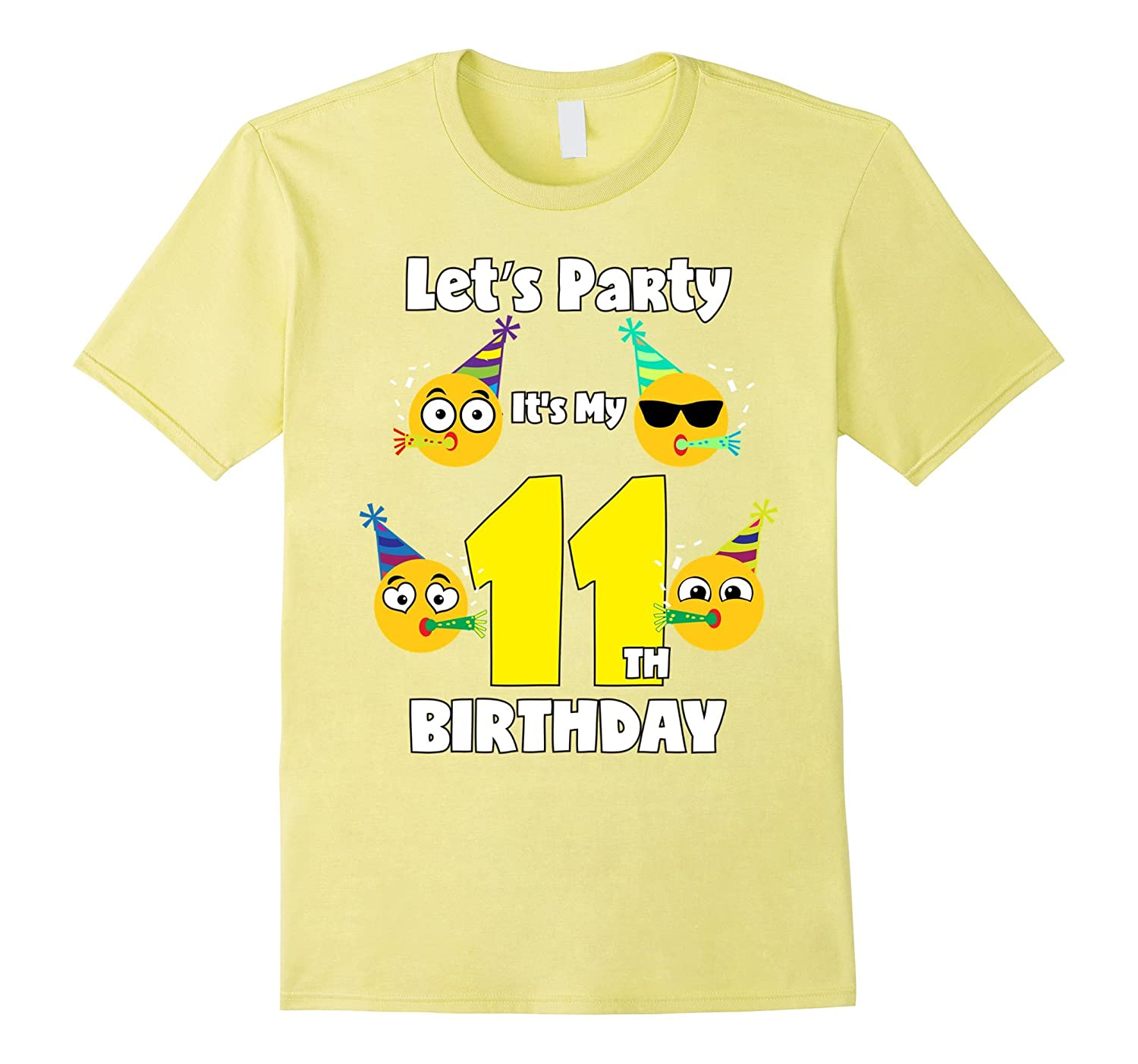 Emoji Birthday Shirt For 11 Year Old Girl Boy Toddler Fun CD