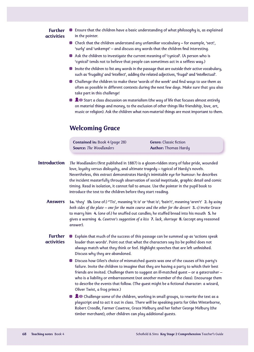 Workbooks key stage 2 workbooks : KS2 Comprehension Teacher's Guide: Years 3-6, Ages 7-11 (for the ...