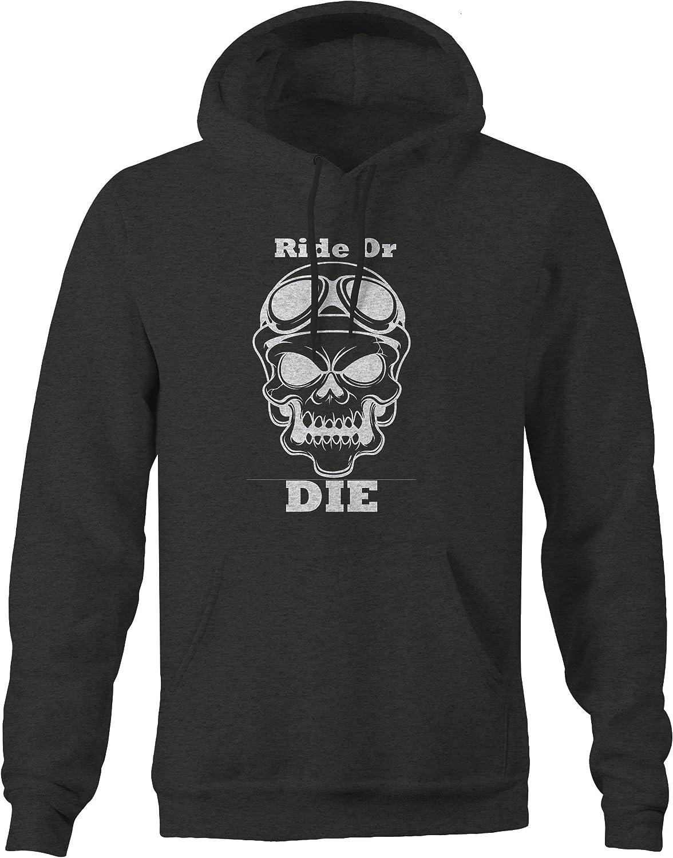 Ride or Die Motorcycle Skull Racing Goggles Biker Sweatshirt