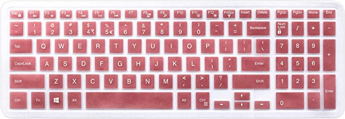 "Keyboard Skin Compatible 2018 15.6 inch Dell G3 G5 G7 Series, 17.3 inch Dell G3 Series, 15.6"" Dell Inspiron 15 3000 5000 7000 Series, 17.3"" Dell Inspiron 17 5000 Series (with Numeric Keypad) Rose Gold"
