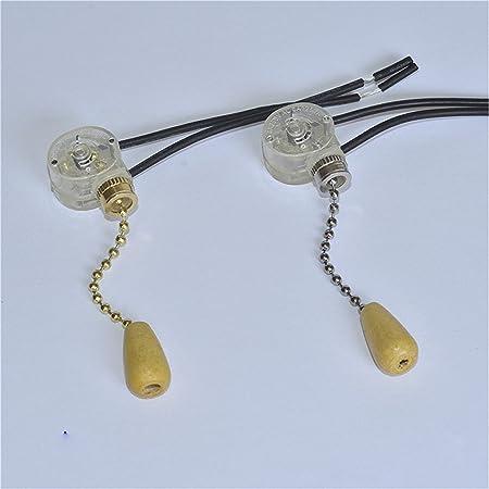 Interruptor de cadena universal para ventilador de techo o lámpara de pared: Amazon.es: Hogar