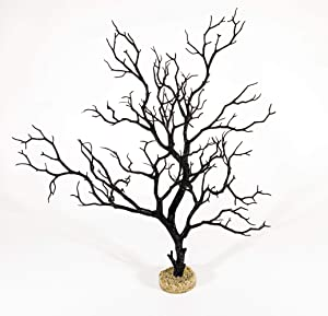 CURRENT USA Manzanita Branch 22-inch Tall with Weighted Base, Molded Aquarium Décor