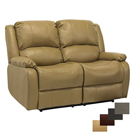 Superb RecPro Charles 58u0026quot; Double RV Zero Wall Hugger Recliner Sofa Loveseat  Toffee