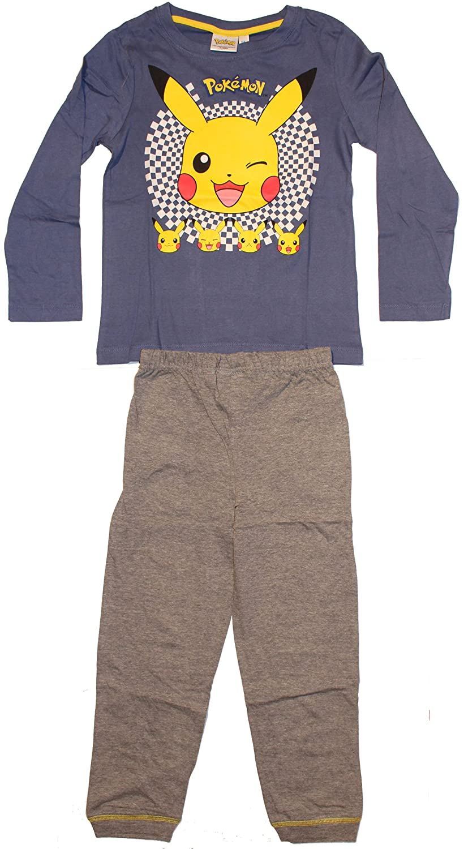 Pokemon Pants Pajama Set Top and Pants 4 Years, Blue