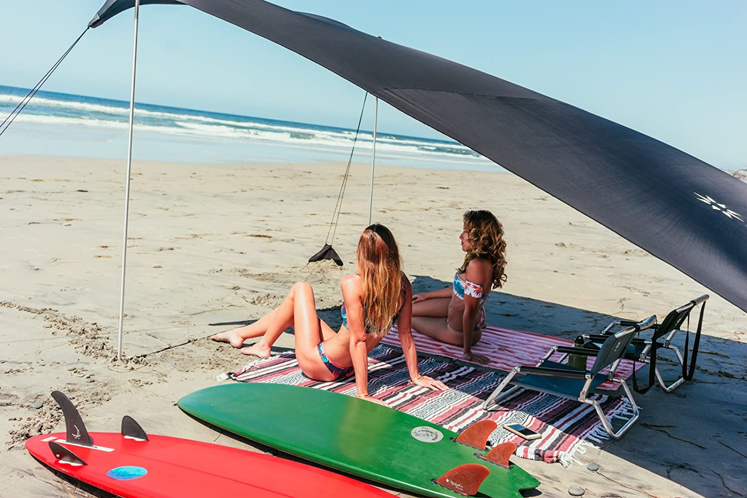 Neso Tents Grande Beach Tent 9 x 9ft 7ft Tall Reinforced Corners and Cooler Pocket