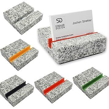 Visitenkarten Halter Visitenkarten Ständer Visitenkarten Auftseller Aus Einem Massiven Granitblock 700g Schwer Design Weltneuheit Für Eine Edle