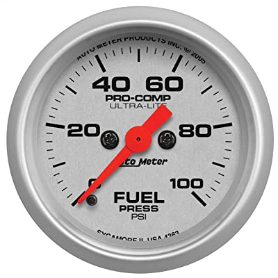 Auto Meter 4363 Ultra-Lite Electric Fuel Pressure Gauge: Automotive [5Bkhe1506348]