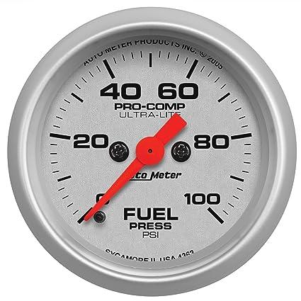 amazon com auto meter 4363 ultra lite electric fuel pressure gauge rh amazon com