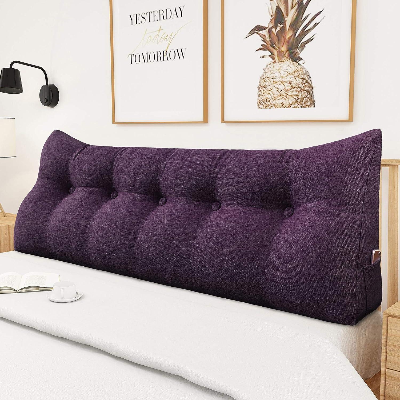 45CM Triangular Wedge Lumbar Pillow Support Cushion Backrest Headboard Backrest