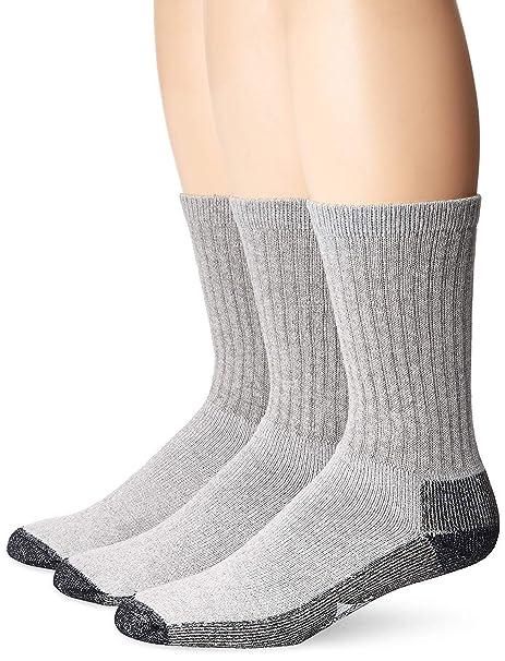 Wigwam Mens At Work 3-Pack Crew Socks, Grey, Large